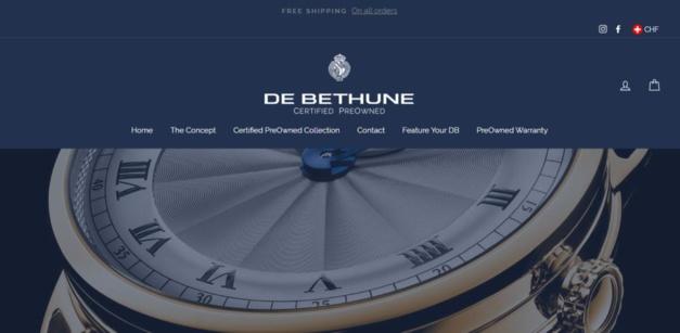 "Lancement de ""De Bethune Certifed Pre-Owned watches"""