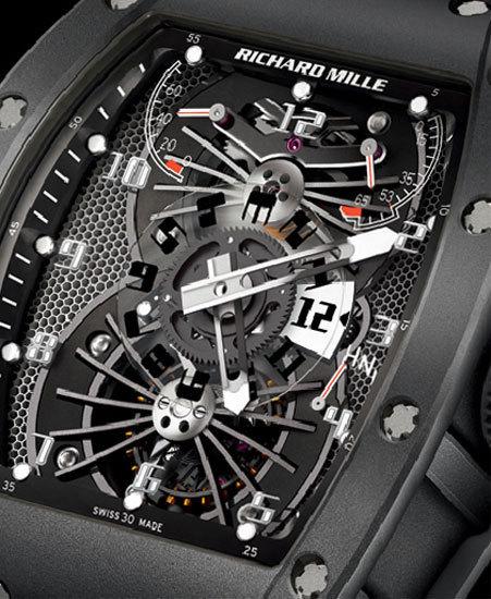 Richard Mille Tourbillon RM 022 Carbone (détail)