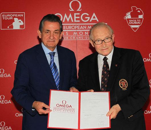 Omega : prolongation de son partenariat avec l'European Masters jusqu'en 2017