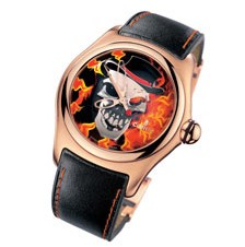 Corum Bubble Baron Samedi en or rose
