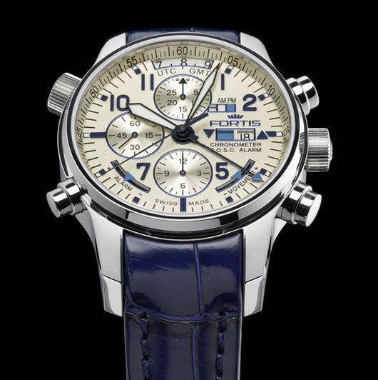 F-43 FLIEGER CHRONOGRAPH ALARM GMT Chronometer C.O.S.C.