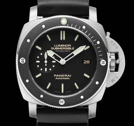 Panerai Luminor Submersible 1950 Amagnetic 3 Days automatic Titanio : amagnétique attraction