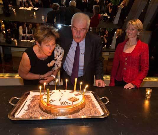 Françoise et Jean-Jacques Weber en compagnie d'Aletta Stas, co-fondatrice de la marque Frédérique Constant