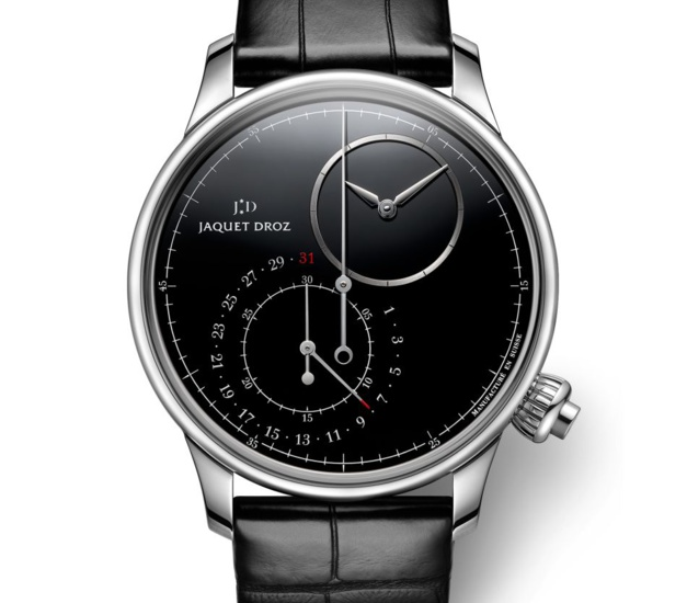 Jaquet Droz Grande Seconde Décentrée Chronographe : noir de noir avec cadran onyx