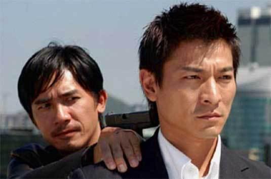 Tony Leung et Andy Lau dans Infernal Affairs, DR