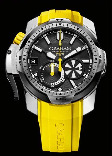 Graham Chronofighter Prodive : montre de plongée professionnelle