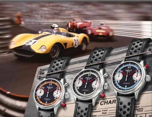Hanhart Pioneer Racemaster : beau trio de chronos
