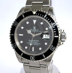 Submariner en acier, bracelet Oyster, référence 16610 étanche à 300 m