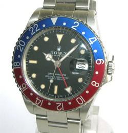 Rolex GMT Master en acier, référence 16750, bracelet Oyster