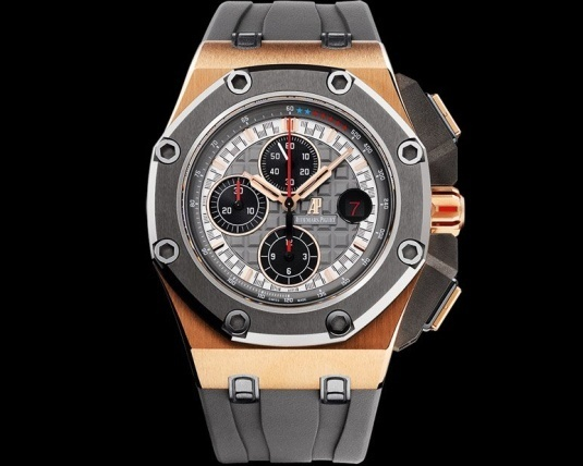 Chronographe Audemars Piguet Royal Oak Offshore Michael Schumacher or rose