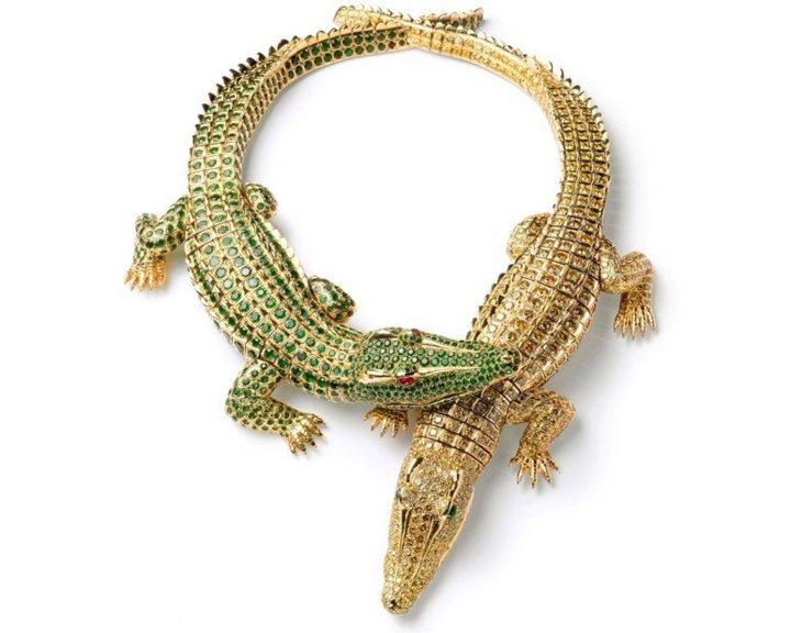 Collier crocodiles. Cartier Paris, commande de 1975. (Nick Welsh, Collection Cartier © Cartier)