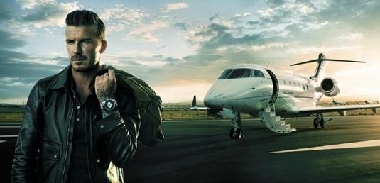 David Beckham et sa Breitiling Unitime