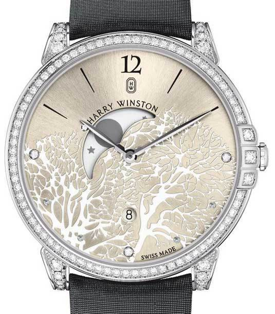 Harry Winston Midnight Moon Phase : lune romantique