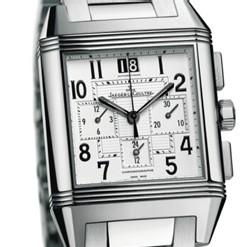 Reverso Squadra Chronograph GMT bracelet acier