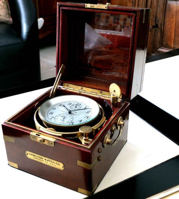 Chronomètre de marine Hamilton d'origine