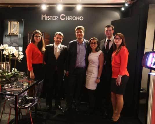 L'équipe Mister Chrono au Salon Belles Montres