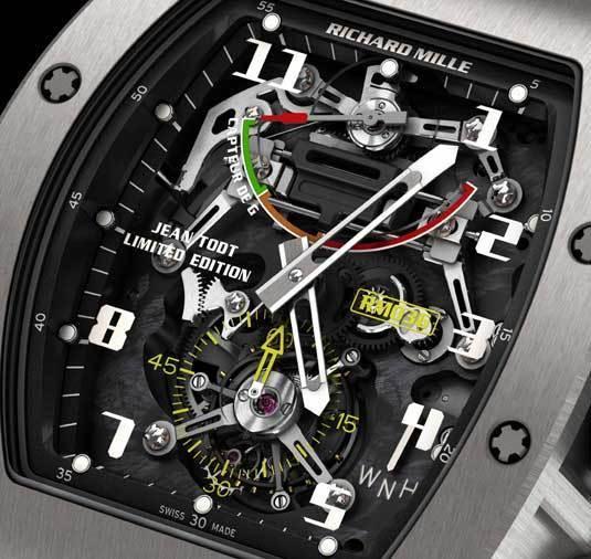 Richard Mille RM 036 Jean Todt Limited Edition : montre capteur de G Tourbillon