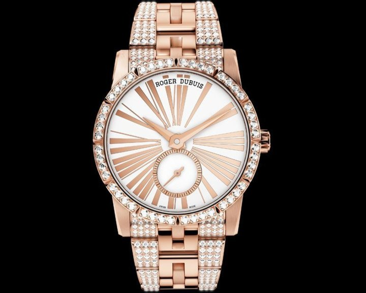 Roger Dubuis Excalibur 36 or rose sertie