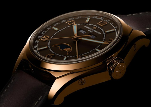 Vacheron Constantin Fiftysix calendrier complet : cadran brun sépia