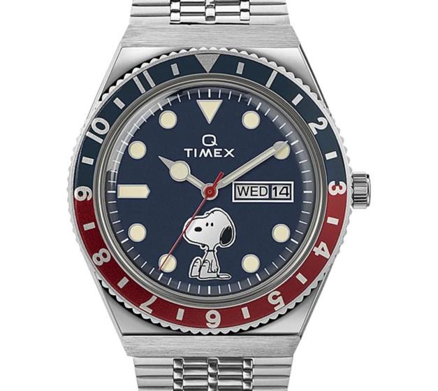 Q Timex Reissue x Peanuts 70th Anniversary 38mm Stainless Steel Bracelet Watch