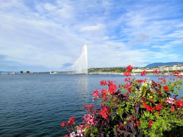 Genève et son jet d'eau, copyright Jean-Philippe Tarot