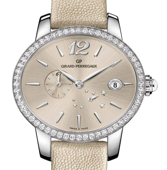 Cat's eye Girard-Perregaux version acier et diamants