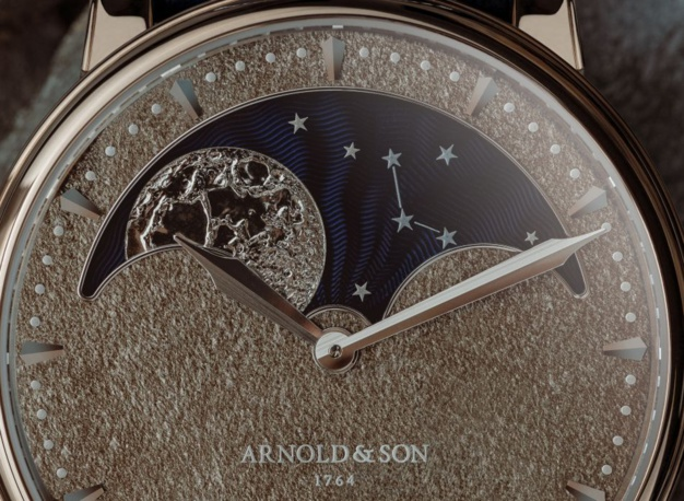 Arnold & Son : Perpetual Moon Obsidian Lune Changeante