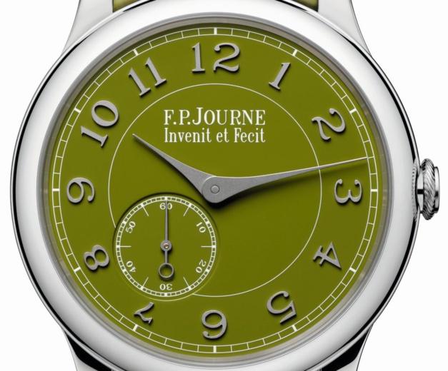 F.P. Journe : un Chronomètre Souverain en platine avec cadran vert en collaboration avec Seddiqi