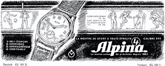 Publicité ancienne d'Alpina