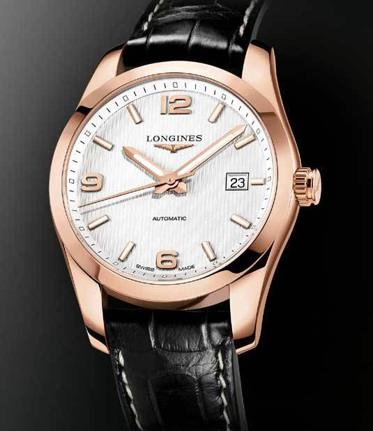 Longines Conquest Classic en or rose