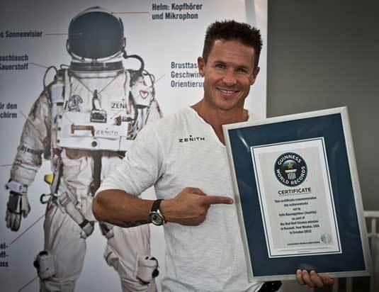 Felix Baumgartner : il a atteint Mach 1.25