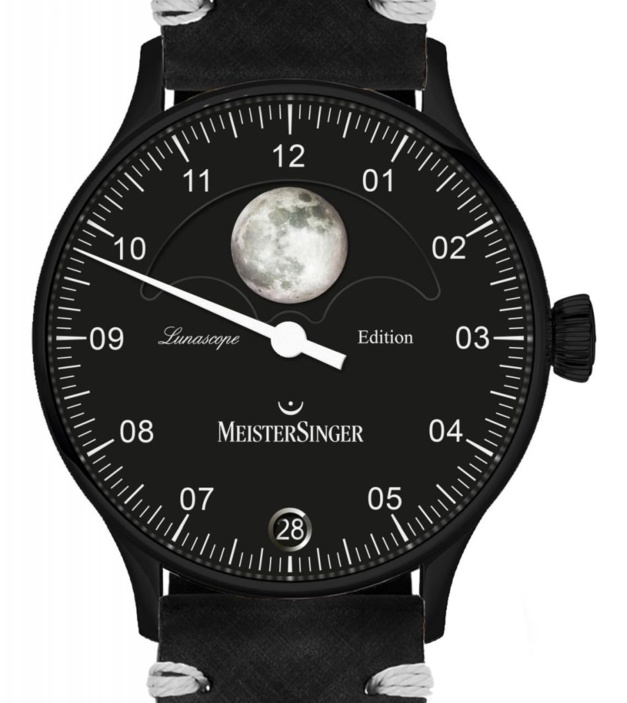MeisterSinger Lunascope Spéciale France Full Black : seule la Lune luit
