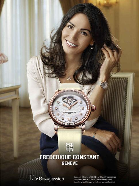 Frédérique Constant : Inès Sastre comme nouvelle ambassadrice d'une oeuvre caritative