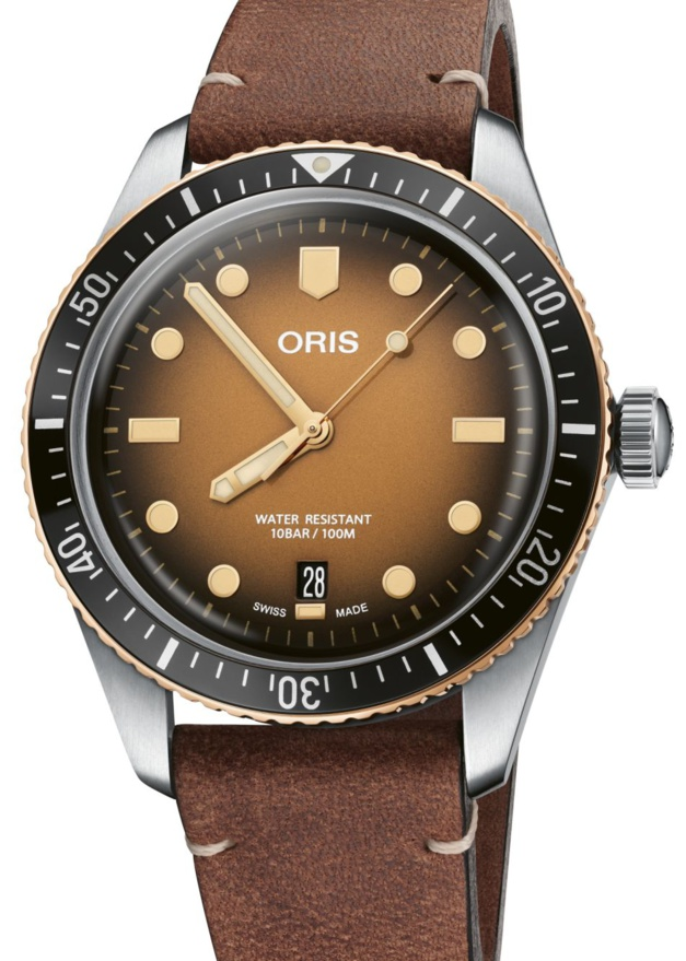 Oris Divers Sixty-Five : bico bronzo