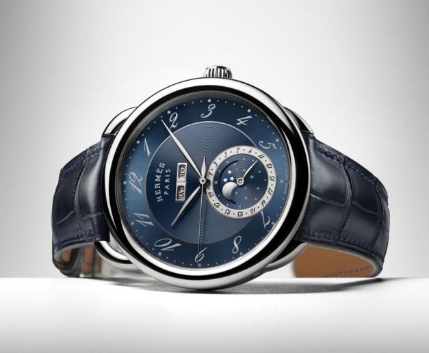 Hermès Arceau Grande Lune : blue moon