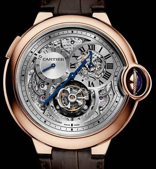 Montre Ballon Bleu de Cartier Tourbillon second fuseau double sautant