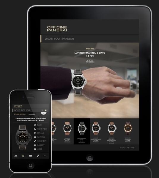 Panerai : une nouvelle application pou iPad et iPhone disponible avec  le catalogue 2013