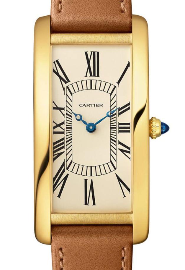 Tank Cintrée Cartier 100ème anniversaire en or jaune