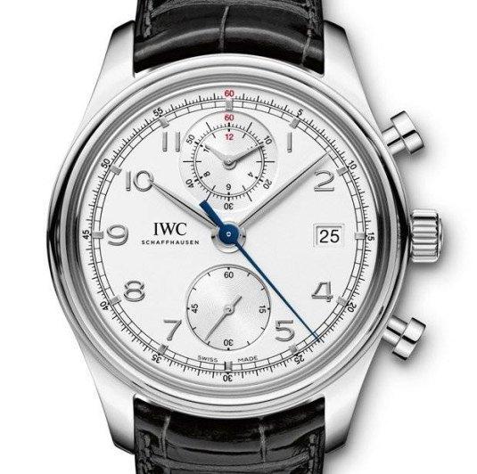 IWC Portugaise chronographe classique acier