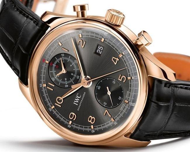 IWC Portugaise chronographe classique or rose