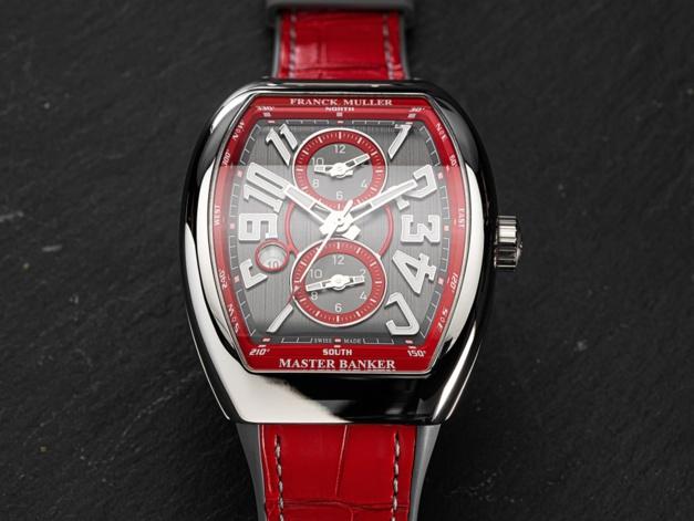 Franck Muller The Vanguard Master Banker : de l'acier et du rouge !