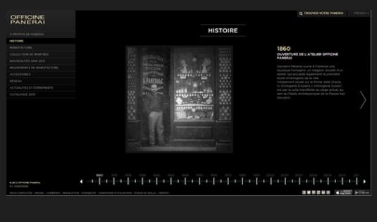 Panerai : du nouveau sur son site Internet