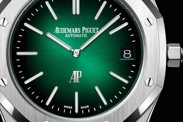 Audemars Piguet : l'ultra-luxe Royal Oak en platine et cadran vert fumé
