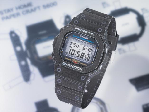 G-Shock Papercraft : une montre en papier à réaliser soi-même