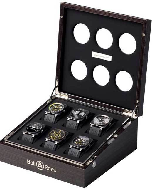 Coffret Bell & Ross regroupant les six BR01 Flight Instruments