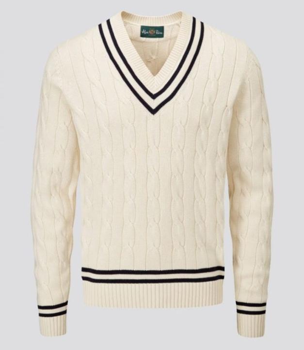 Pull Cricket en coton de chez Alan Paine