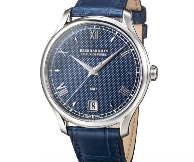 1887 : la montre de ville d'Eberhard & Co se pare de bleu