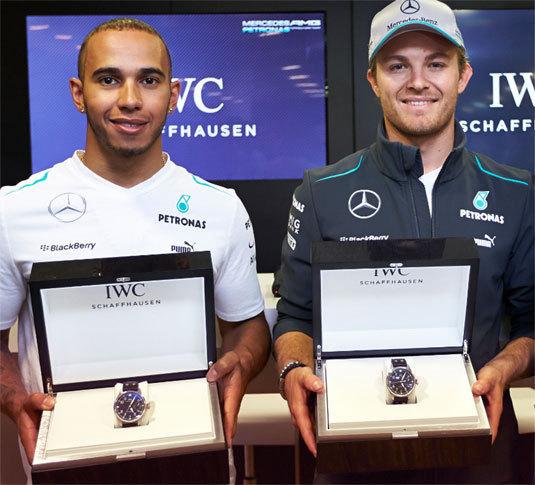 IWC: Lewis Hamilton et Nico Rosberg, deux nouveaux ambassadeurs de la marque de Schaffhausen