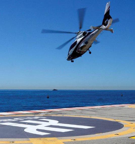 Hublot : le H de la marque sur les pistes d'hélicoptère à Monaco