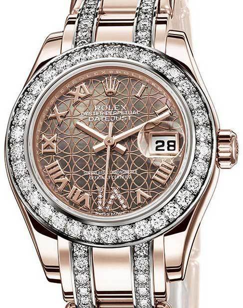 Montre Rolex Rose Femme